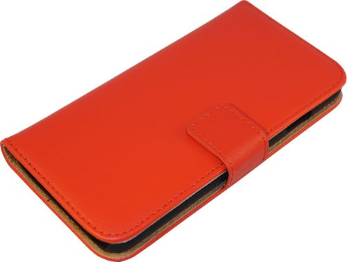 Samsung Galaxy S7 Case Classic Leder rot Seite