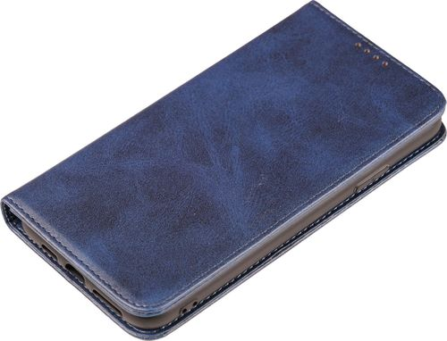 Apple iPhone 11 Pro Max Case Leder blau Seite