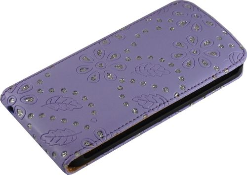 Apple iPhone 5 / 5s Flip Case Diamant violett