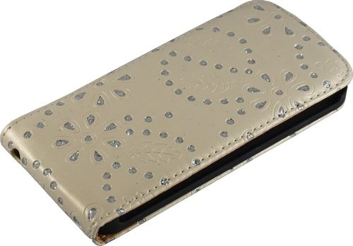 Apple iPhone 5 / 5s Flip Case Diamant bronze