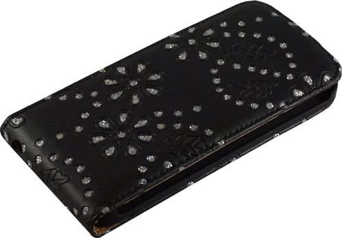 Apple iPhone 5 / 5s Flip Case Diamant schwarz