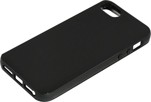 Apple iPhone 5 / 5s Silikon back Cover schwarz