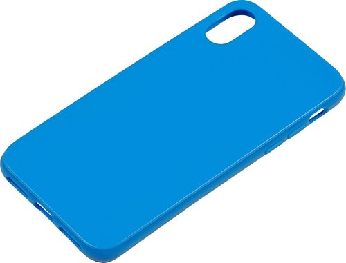 iPhone X / XS Silicon back Cover blau