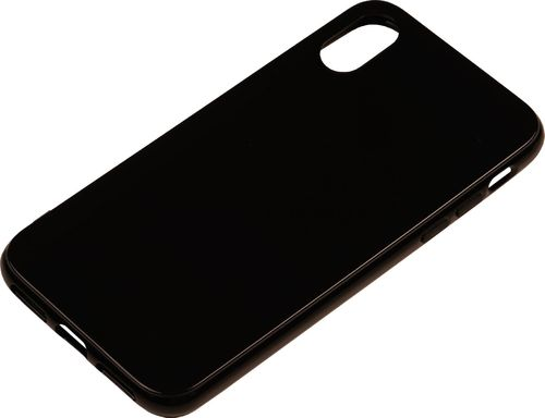 iPhone X / XS Silicon back Cover schwarz