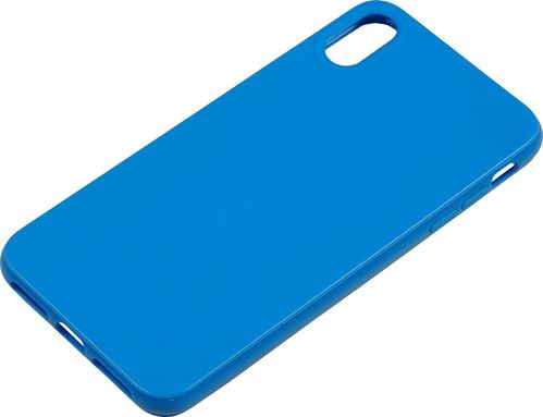 Apple iPhone XS Max Silikon back Cover blau