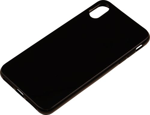 Apple iPhone XS Max Silikon back Cover schwarz