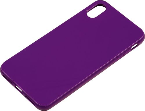 Apple iPhone XS Max Silikon back Cover violett